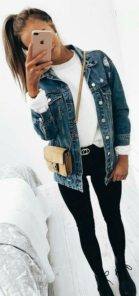 30+ Cute and Casual Winter Outfit Ideas for School ...
