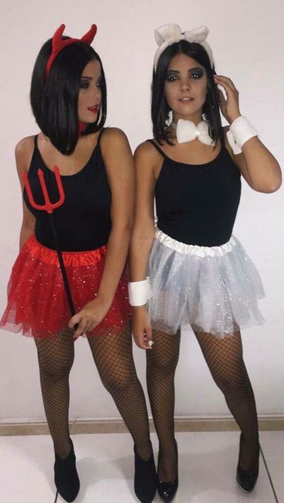 cute matching angle and devil best friends halloween costume ideas for women lindas ideas de