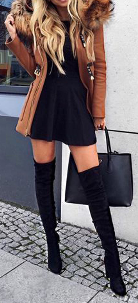841503e1c6b Hot Baddie Going Out Thigh High Boots Outfit Ideas for Women Fall or Winter  - Elegantes
