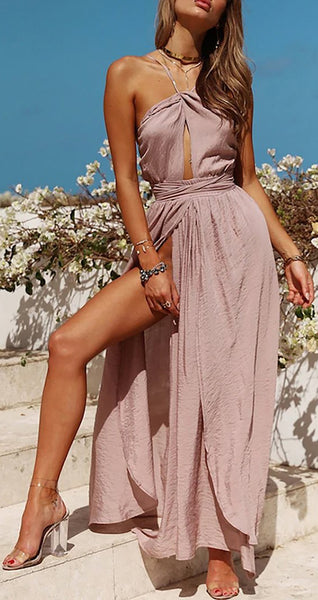 Pretty Mauve Silk Satin Long Prom Dresses Outfit Ideas for Graduation for Teens - vestido de fiesta de graduación - www.GlamantiBeauty.com