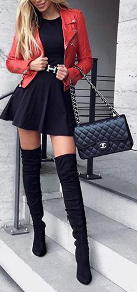 350c408cb30 Classy Elegant Going Out Thigh High Boots Outfit Ideas for Women Fall or  Winter - Elegantes