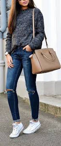 7afa147f9b cute lazy day outfit ideas for teenagers for school with leggings with  sweater 2018 - ideas. Dressy Comfy School Outfit Ideas for Winter ...