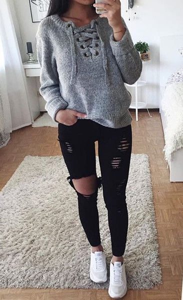 ab270498ff Cute Winter Outfit Ideas for School for Teenagers Casual Comfy Lazy Day  Hipster with Jeans with