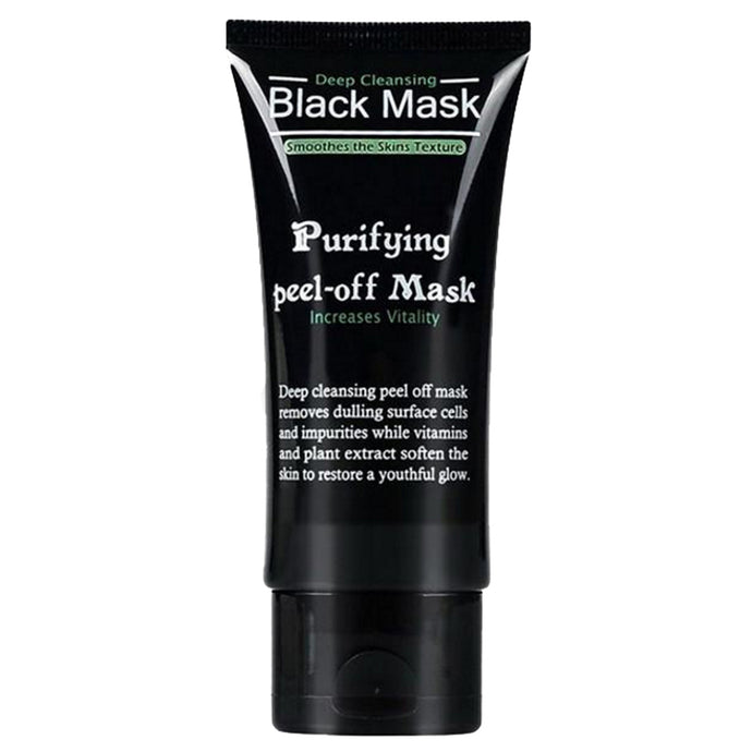 Black Charcoal Peel Mask How to Get Rid of Blackheads - www.GlamantiBeauty.com