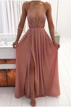 Simple Elegant Long Prom Dresses Outfit Ideas for Teens - Simple Modest Backless Nude Strappy Chiffon Maxi Dress for Wedding Guest 2021- GlamantiBeauty