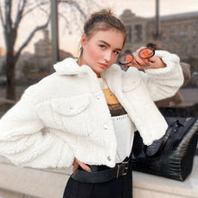 Cute Comfy Casual Fall Outfit Ideas for Women - Popular Sherpa Teddy Jacket Coat - www.GlamantiBeauty.com #outfits