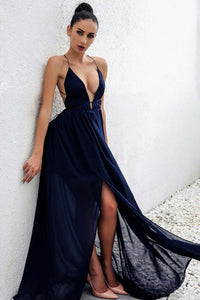 Simple Elegant Long Prom Dresses Outfit Ideas for Teens - Simple Modest Backless Red Strappy Chiffon Maxi Dress for Wedding Guest 2021- GlamantiBeauty