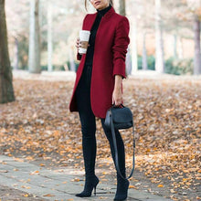 Classy Fall Outfit Ideas for Women - Elegant Peacoat Jacket in Dark Red - www.GlamantiBeauty.com #outfits