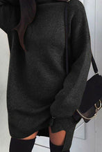 Cute Fall Winter Outfit Ideas for Women Oversized Knit Sweater Dress - lindas ideas de ropa de invierno para mujeres - www.GlamantiBeauty.com #outfits