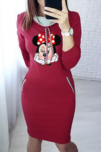 Casual Summer Outfit Ideas for Women - Mickey Mouse Sweater Midi Dress - www.GlamantiBeauty.com #dresses