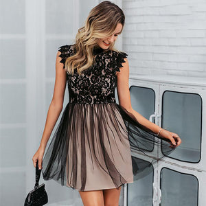 Classy Evening Lace Mini Dress Summer Outfit Ideas for Women for Teen Girls - www.GlamantiBeauty.com #dresses
