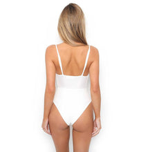 Clarissa Tie up Bow Front Cut Out High Waisted Monokini One Piece Swimsuit