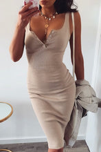 Cute Nude Summer Outfit Ideas for Teens Button Up Ribbed Tank Midi Dress - www.GlamantiBeauty.com