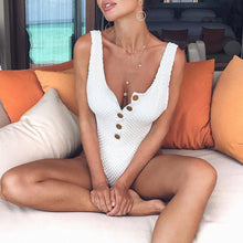 Cute Boho Modest White Crotchet Button Up Monokini Swimsuit Bathing Suit for Women for Girls - www.GlamantiBeauty.com #swimwear