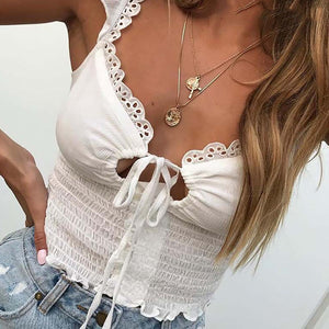 Cute Summer Back to School Outfit Ideas for Teen Girls for Women Crop Top Ruffle Fashion for Women - www.MyBodiArt.com