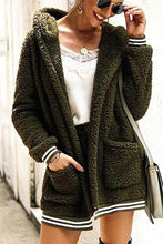 Cute Casual Winter Outfit Ideas for Women - Cozy Soft Sherpa Green Sweater Jacket - www.GlamantiBeauty.com