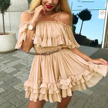 Cute Summer Outfit Ideas for Teens Ruffle Chiffon Mini Dress to Wear as a Guest for Wedding -  lindas ideas de trajes de verano para mujeres - www.GlamantiBeauty.com #summer #outfit