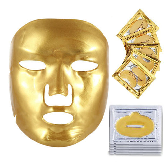 Gold Face Mask Korean Skin Care Routine Relaxation - www.GlamantiBeauty.com