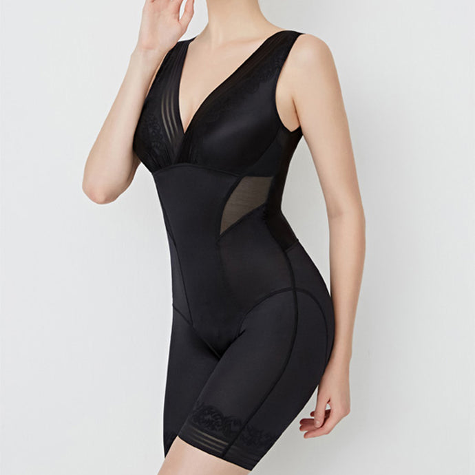 Vicky Seamless Bodysuit Shorts One Piece Shapewear in Black or Nude
