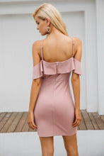 Romantic Summer Dresses Outfit Ideas for Women 2018 - Chic Classy Pink Ruffle Off the Shoulder Tight Mini Dress - ideas elegantes del traje de las mujeres - www.GlamantiBeauty.com #outfits