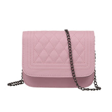 Elizabeth Designer Classy Crossbody Quilted Pleather Chain Flap Shoulder Purse Bag in Pink - www.GlamantiBeauty.com
