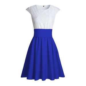 Cute Pretty Lace Skater Dresses for Spring 2018 in Royal Blue - verano lindo vestidos ideas de vestimenta para adolescentes - www.GlamantiBeauty.com #dresses #outfits