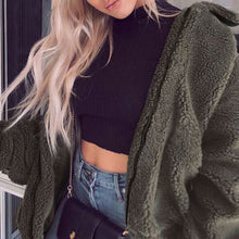 Cute Cozy Warm Fall Back to School Outfit Ideas for Teens for College - Aurora Popular Oversized Green Soft Comfy Sherpa Teddy Jacket Pixie Coat I am gia dupe - www.Glamantibeauty.com