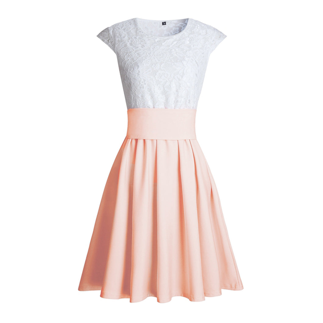 Cute Pretty Lace Skater Dresses for Spring 2018 In Peach - verano lindo vestidos ideas de vestimenta para adolescentes - www.GlamantiBeauty.com #dresses #outfits