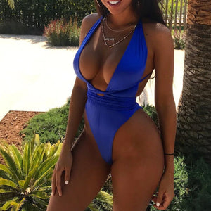 Cute Slimming Halter Neck Monokini Swimsuit Bathing Suit for Teen Girls for Women - www.GlamantiBeauty.com