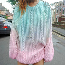 Cute Fall Outfit Ideas for School for Teens Girls Rainbow Pastel Unicorn Tye Dye Oversized Sweater - Ideas lindas de ropa de otoño para adolescentes - www.GlamantiBeauty.com