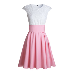 Cute Pretty Lace Skater Dresses for Spring 2018 in Baby Pink - verano lindo vestidos ideas de vestimenta para adolescentes - www.GlamantiBeauty.com #dresses #outfits