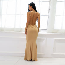 Hot Nude Tight Long Prom Dresses - Low Cut Ruched Backless Deep V Neck Plunge Mermaid Gown Simple Maxi Dress for Graduation Homecoming Cocktail Evening Party  - Vestidos de baile largos ceñidos - www.GlamantiBeauty.com #promdresses