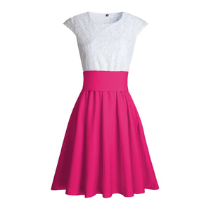 Cute Pretty Lace Skater Dresses for Spring 2018 in Hot Pink - verano lindo vestidos ideas de vestimenta para adolescentes - www.GlamantiBeauty.com #dresses #outfits