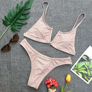 Cute Modest Simple Two Piece Bikini Swimwear Swimsuit Summer Beach Outfit Ideas for Women for Teens - www.GlamantiBeauty.com #swimwear