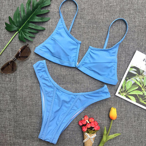 Cute Modest Bikini Two Piece Swimsuit for Women for Summer Beach Outfit Ideas - www.GlamantiBeauty.com #bikini #beach