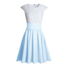 Cute Pretty Lace Skater Dresses for Spring 2018 in Baby Blue - verano lindo vestidos ideas de vestimenta para adolescentes - www.GlamantiBeauty.com #dresses #outfits