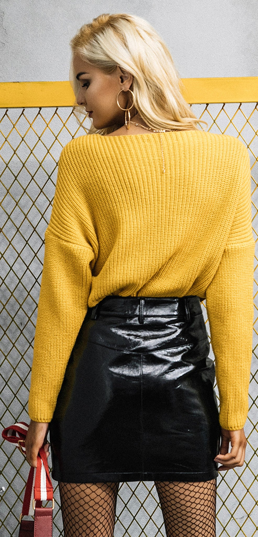 Rory Oversized Wrap Knitted Sweater Top Glamanti Beauty