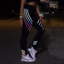 Workout Outfit Ideas Glow in the Dark Leggings for Women for Teen Girls in Black Cute Hot Fashion - www.GlamantiBeauty.com #outfits