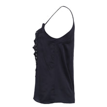Casual Cute Summer Outfit Ideas with Jean Shorts for Women 2018 - Feminine Satin Silk Lace Up Spaghetti Tank Top - ideas lindas del equipo del verano para las mujeres - www.GlamantiBeauty.com #outfits #summerstyle