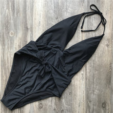 Cute Bow Tie Up One Piece Swimsuit Baby Slimming Black Cheeky Monokini for Teens for Women Beach Outfit Ideas - www.GlamantiBeauty.com #swimwear