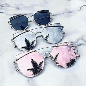 Cheap Designer Cateye Mirrored Lenses Oversized Sunglasses Reflective Mirror - 2018 Classic Summer Trend Trending www.GlamantiBeauty.com