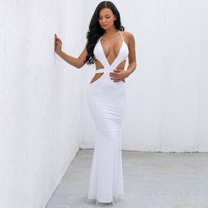 Dresses to Wear to a Wedding for Women Cute Formal Glitter White Cut Out Sides Summer Prom Homecoming Maxi Mermaid Long Dress for Teens - www.GlamantiBeauty.com #dresses