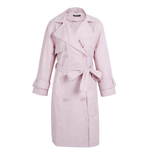 Spring Trench Coat Work Outfit Ideas for Women Baby Pink - www.GlamantiBeauty.com