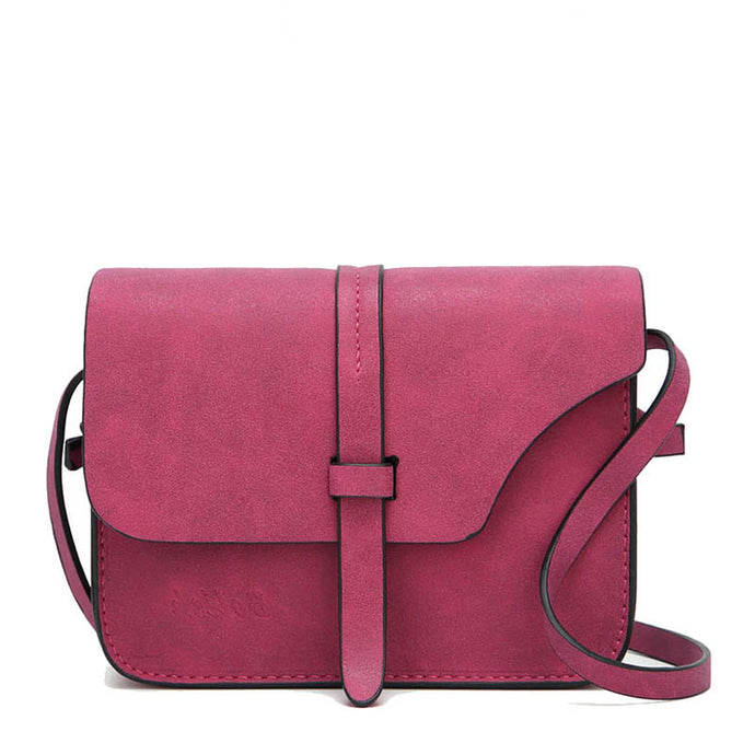 Cara Cute Vintage Pleather Crossbody Flap Shoulder Purse Bag Pink - www.GlamantiBeauty.com
