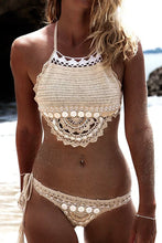 Boho Crotchet Halter Neck Swimsuit Swimwear Outfit Ideas for Summer or Beach - www.GlamantiBeauty.com