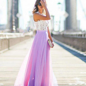 Long Prom Dresses Lace Maxi Chiffon Dress Elegant Spring Graduation Outfit Ideas for Teens in Pink, Blue, Purple - hermosos vestidos de fiesta para adolescentes - www.GlamantiBeauty.com #promdresses