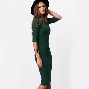 5c46e805c3f5 Fashion Stylish Spring Long Dresses Outfit Ideas for Women - Casual Hipster  Tight Bodycon Green Midi