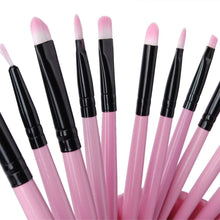 Professional Pink Makeup Brush Set 32 pieces Eyeshadow Contour Face - www.GlamantiBeauty.com