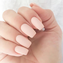 Nail Art Design 2018 -  Baby Pink Matte Gel Square Acrylic Nails - www.GlamantiBeauty.com