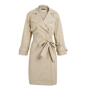Spring Trench Coat Work Outfit Ideas for Women Khaki - www.GlamantiBeauty.com